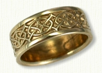 14KY Celtic Crynoch Knot wedding rings