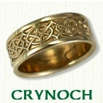 Custom designed Celtic Knot Wedding Rings
