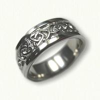 Platinum Celtic Dara Knot Wedding Band