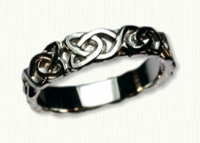 14KW Sculpted Celtic Dara Knot Wedding Ring