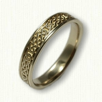 Desboro knot wedding band - narrow rails