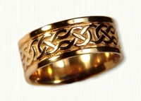 14kt Yellow Celtic Desboro Knot Bands