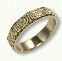 14kt Yellow Sculpted Dornoch Wedding Band