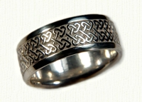 14KW Double Heart Knot Celtic Wedding Rings