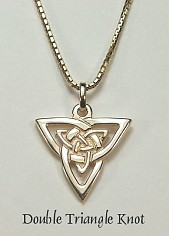 Double Triangle Knot Pendant