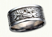 14KW Celtic Dragon Knot Wedding Rings