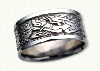 Custom Dragon Wedding Rings By deSignet