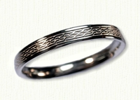 14KW Narrow Celtic Duntroon Knot Wedding Band