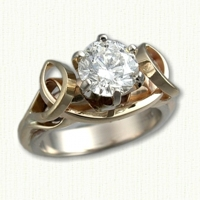 Julie Anne Engagement Ring with 1.28ct RBC Diamond