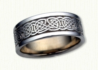 14KW Celtic Durrow Knot wedding ring