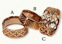 Celtic Durrus Knot Wedding Rings
