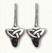 Triangle Knot Earrings on French Wires