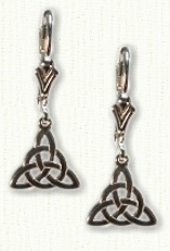 Triangle Knot & Circle Dangle Earrings