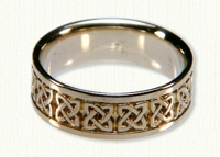 14KY Celtic Ennis Knot wedding ring
