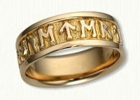 Personalized Celtic Runes Wedding Bands