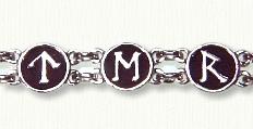 Sterling Celtic Runes Eternalove  Bracelet