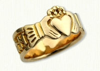 14kt yellow gold 'Eternalove' Claddagh Bands