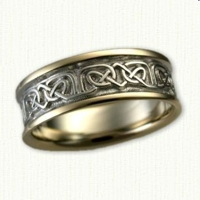 Celtic Foxcroft Wedding Band -Two Tone Gold