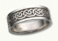 14KW Celtic Galway Knot Wedding Band