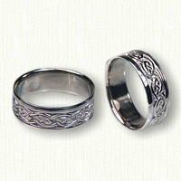 14kt White Gold Celtic Galway - Stretched Pattern