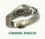 Celtic Gimmel Rings