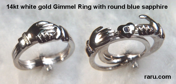 Très Betrothal, Gimmel, Claddaugh Rings by deSignet International HY37