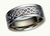 14KW Glasgow Knot Wedding Bands