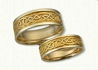 14kt Yellow Gold Custom Lindesfarne and Glasgow Knot Band