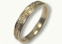 18kt Narrow Glasgow Knot Wedding Band - 3.0 mm