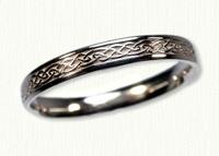 Narrow 14KW Glasgow Knot Wedding Rings