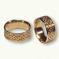 14kt Yellow Gold Celtic Greystone Knot Wedding Band
