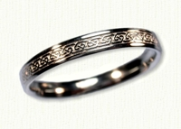 14KW Narrow Greystone Knot Wedding Band