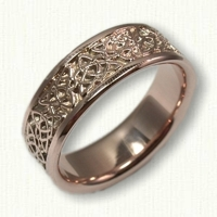 14kt Rose Gold Celtic Heart and Triangle Knot Wedding Band