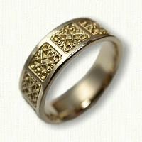 14kt Yellow Gold Celtic Intricate Heart Knot Band - 6mm