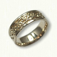 14kt Yellow Gold Continuous Heart Knot Band