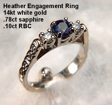 Enlarged View with Sapphire Enlarged View with Diamonds