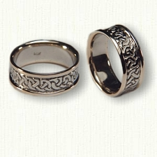 14kt Two Tone Celtic Heavy Knot Wedding Band Set