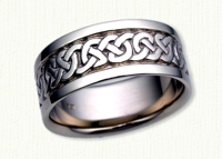 14KW Celtic Heavy Knot Wedding Band