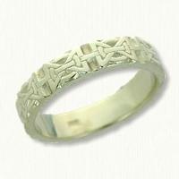 14kt Green Gold Hugs & Kisses Knot Band No Rails