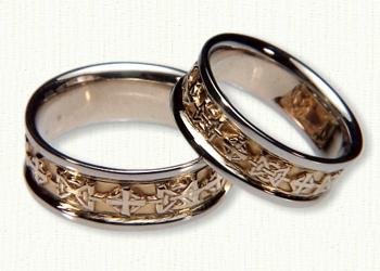 wedding ring sacred heart celtic religious