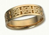 '18KY Hugs & Kisses' Wedding Ring