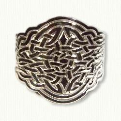 Intricate Celtic Knot Cuff Bracelet