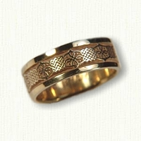 14kt Yellow Gold Celtic Intricate Lace Knot Wedding Band