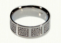 14kt white gold Intricate 3 Point Knot Band