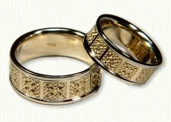 Celtic heart knot wedding rings by designet best prices quality 14ky intricate heart knot celtic wedding bands junglespirit Choice Image