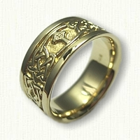 18kt Yellow Gold Celtic Kenmare Knot with Cross Wedding Band