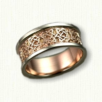 14kt Two Tone Kenmare Knot Wedding Band