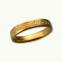 14kt Narrow Kenmare Knot Wedding Band