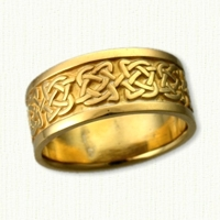 14kt Celtic Kenmare Knot Wedding Band 9 mm width