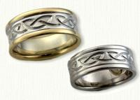 Celtic Kilsyth Knot Wedding Bands - reverse etch